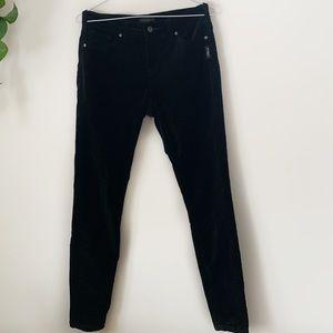 Silver Jeans Velvet Black Aiko Skinny Jeans
